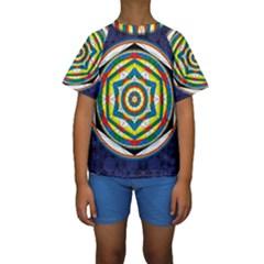 Flower Of Life Universal Mandala Kids  Short Sleeve Swimwear