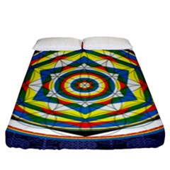 Flower Of Life Universal Mandala Fitted Sheet (king Size)