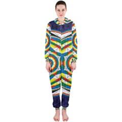 Flower Of Life Universal Mandala Hooded Jumpsuit (ladies)