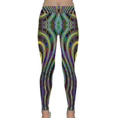 Curves Color Abstract Classic Yoga Leggings