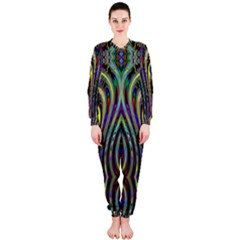 Curves Color Abstract Onepiece Jumpsuit (ladies)