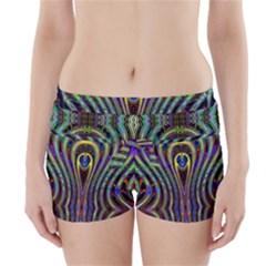 Curves Color Abstract Boyleg Bikini Wrap Bottoms