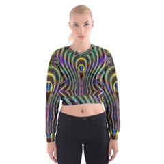 Curves Color Abstract Cropped Sweatshirt