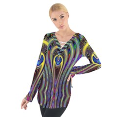 Curves Color Abstract Tie Up Tee