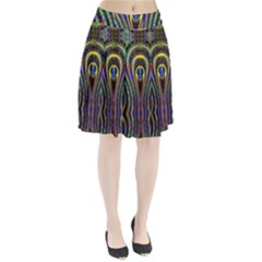 Curves Color Abstract Pleated Skirt