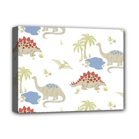 Dinosaur Art Pattern Deluxe Canvas 16  X 12