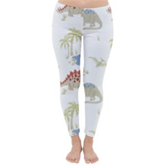 Dinosaur Art Pattern Classic Winter Leggings