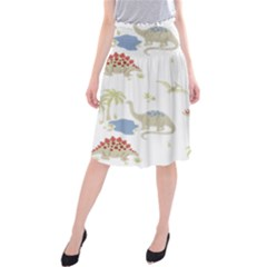 Dinosaur Art Pattern Midi Beach Skirt