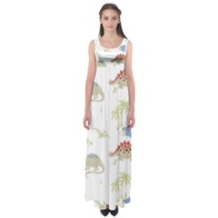Dinosaur Art Pattern Empire Waist Maxi Dress