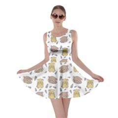 Cute Hamster Pattern Skater Dress