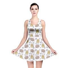 Cute Hamster Pattern Reversible Skater Dress