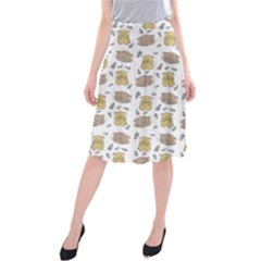 Cute Hamster Pattern Midi Beach Skirt