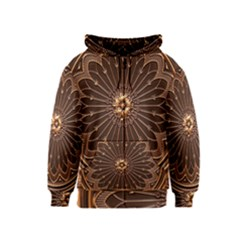 Decorative Antique Gold Kids  Zipper Hoodie