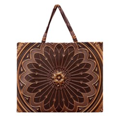 Decorative Antique Gold Zipper Large Tote Bag