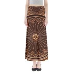 Decorative Antique Gold Full Length Maxi Skirt