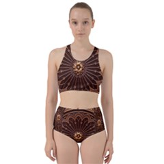 Decorative Antique Gold Bikini Swimsuit Spa Swimsuit