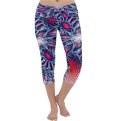 Creative Abstract Capri Yoga Leggings