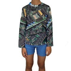 Computer Ram Tech Kids  Long Sleeve Swimwear