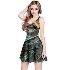 Computer Ram Tech Reversible Sleeveless Dress