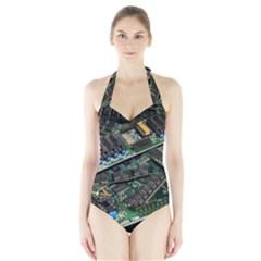 Computer Ram Tech Halter Swimsuit