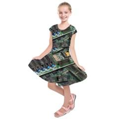 Computer Ram Tech Kids  Short Sleeve Dress