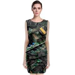 Computer Ram Tech Classic Sleeveless Midi Dress
