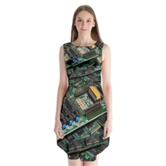 Computer Ram Tech Sleeveless Chiffon Dress