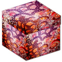 Colorful Art Traditional Batik Pattern Storage Stool 12