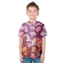 Colorful Art Traditional Batik Pattern Kids  Cotton Tee