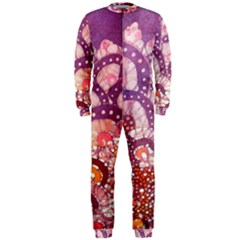 Colorful Art Traditional Batik Pattern Onepiece Jumpsuit (men)