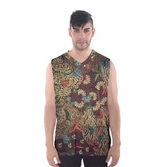 Colorful The Beautiful Of Art Indonesian Batik Pattern Men s Basketball Tank Top