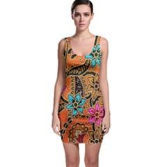 Colorful The Beautiful Of Art Indonesian Batik Pattern(1) Bodycon Dress