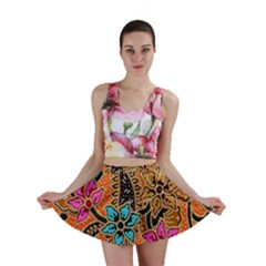 Colorful The Beautiful Of Art Indonesian Batik Pattern(1) Mini Skirt