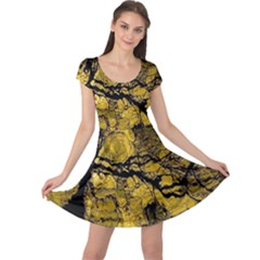 Colorful The Beautiful Of Traditional Art Indonesian Batik Pattern Cap Sleeve Dresses