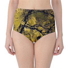 Colorful The Beautiful Of Traditional Art Indonesian Batik Pattern High Waist Bikini Bottoms