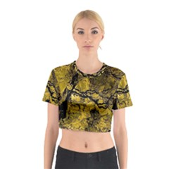 Colorful The Beautiful Of Traditional Art Indonesian Batik Pattern Cotton Crop Top
