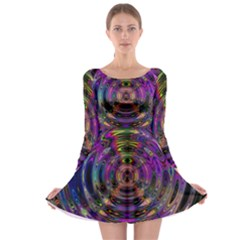 Color In The Round Long Sleeve Skater Dress