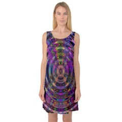 Color In The Round Sleeveless Satin Nightdress