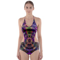 Color In The Round Cut Out One Piece Swimsuit