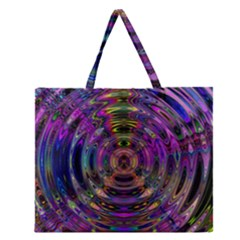 Color In The Round Zipper Large Tote Bag