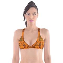 Circuit Board Pattern Plunge Bikini Top