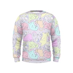 Cat Animal Pet Pattern Kids  Sweatshirt