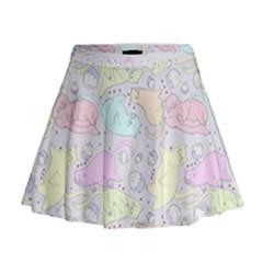 Cat Animal Pet Pattern Mini Flare Skirt