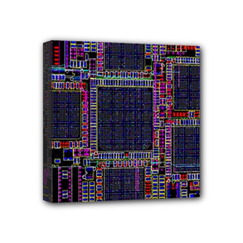 Cad Technology Circuit Board Layout Pattern Mini Canvas 4  X 4