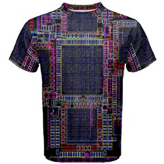 Cad Technology Circuit Board Layout Pattern Men s Cotton Tee
