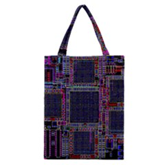 Cad Technology Circuit Board Layout Pattern Classic Tote Bag