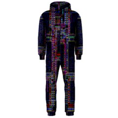 Cad Technology Circuit Board Layout Pattern Hooded Jumpsuit (men)