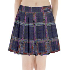 Cad Technology Circuit Board Layout Pattern Pleated Mini Skirt