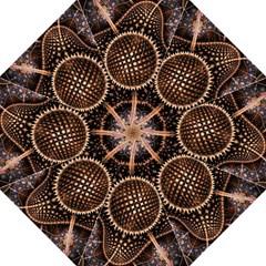 Brown Fractal Balls And Circles Straight Umbrellas