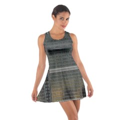 Building Pattern Cotton Racerback Dress